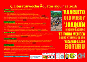 V. Literaturwoche Äquatorialguinea PLAKAT